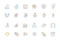 Boże Narodzenie Barwić kontur ikony 4 ilustracji