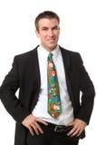 boże narodzenie biznesowy mężczyzna Zdjęcia Stock