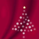 boże narodzenie czerwone płatki śniegu tree Obrazy Royalty Free