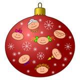 boże narodzenie dekoracja stawia czoło drzewa ilustracja wektor