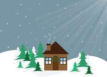 Boże Narodzenie dom obrazy royalty free