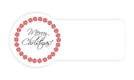 Boże Narodzenie etykietka Zdjęcia Stock