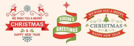 Boże Narodzenie etykietka Fotografia Royalty Free