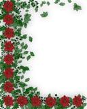 boże narodzenie granicznych kwiaty uświęconi Obrazy Royalty Free