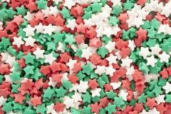Boże Narodzenie gwiazda kształtująca kropi tło Zdjęcie Stock