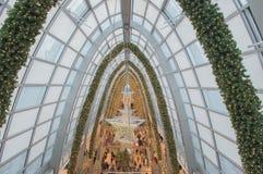 Boże Narodzenie gwiazda na jazgarzu Zdjęcie Stock