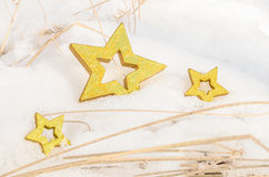 Boże Narodzenie gwiazdy w śniegu 6 Fotografia Stock