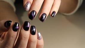 Boże Narodzenie gwoździa sztuki manicure Zdjęcia Royalty Free