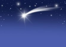 boże narodzenie kometa Zdjęcia Royalty Free