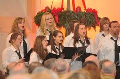 Boże Narodzenie koncert z Szmaragdowym miasto chorem w Wichita obraz stock
