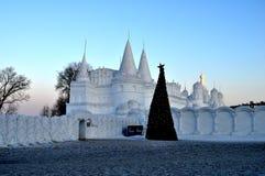 boże narodzenie las moletował ranek śnieżnych śladów szeroką zima fotografia royalty free