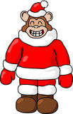 Boże Narodzenie małpa Zdjęcie Royalty Free