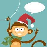 Boże Narodzenie małpa również zwrócić corel ilustracji wektora Obrazy Stock