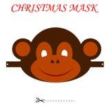 Boże Narodzenie małpy maska Obrazy Stock