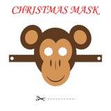 Boże Narodzenie małpy maska Zdjęcia Royalty Free