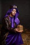 boże narodzenie narodzenie jezusa mądry człowiek zdjęcie stock