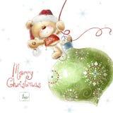 Boże Narodzenie niedźwiedź Fotografia Royalty Free
