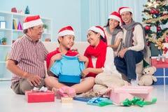 Boże Narodzenie niespodzianka zdjęcia royalty free