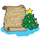 boże narodzenie nowy rok szczęśliwy wesoło Obrazy Stock