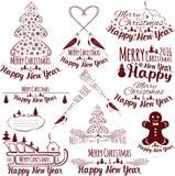 boże narodzenie nowy rok szczęśliwy wesoło dodatkowy karcianego formata wakacje ilustracja wektor