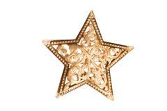 Boże Narodzenie ornamentu gwiazdy kształt odizolowywający na białym tle Fotografia Stock