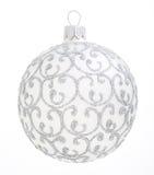 Boże Narodzenie ornamentu srebra piłka pojedynczy swiat dekoracji Fotografia Royalty Free