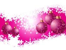 Boże Narodzenie płatki śniegu i zabawki royalty ilustracja