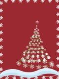 boże narodzenie płatki śniegu tree Obrazy Stock