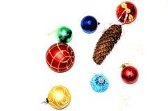 Boże Narodzenie piłki i zabawki Obrazy Royalty Free