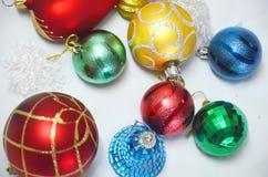 Boże Narodzenie piłki i zabawki Obraz Stock
