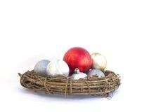 Boże Narodzenie piłki odizolowywać Zdjęcia Stock