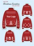Boże Narodzenie projekta bydła pulowery Obrazy Stock