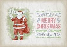 Boże Narodzenie projekta nakreślenie ilustracji
