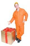 boże narodzenie pudełkowaty dostawca zdjęcie royalty free