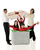 Boże Narodzenie rodzinna Niespodzianka obrazy stock