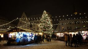 Boże Narodzenie rynek w Tallinn Estonia zdjęcie stock