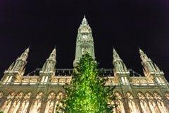 Boże Narodzenie rynek w Wiedeń Zdjęcia Royalty Free