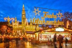 Boże Narodzenie rynek w Wiedeń Obrazy Royalty Free