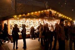 Boże Narodzenie rynek w Wiedeń, Austria Obrazy Royalty Free