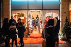 Boże Narodzenie sklepu zakupy pamiątki, Obraz Royalty Free