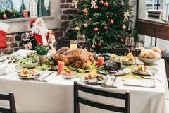 Boże Narodzenie stół obraz royalty free