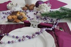 boże narodzenie stół Obrazy Royalty Free