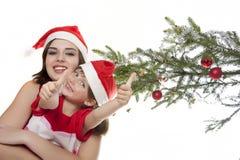 Boże Narodzenie szczęśliwy czas Obrazy Royalty Free