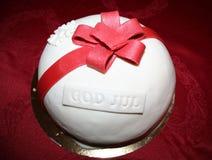 Boże Narodzenie tort z marcepanami zdjęcie royalty free