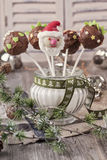 Boże Narodzenie torta wystrzały Zdjęcie Royalty Free