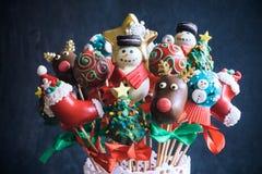 Boże Narodzenie torta wystrzały Obraz Royalty Free