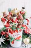 Boże Narodzenie torta wystrzały Fotografia Royalty Free