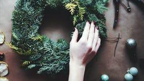 Boże Narodzenie wianek zdjęcie wideo