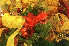 Boże Narodzenie wystrój i łęk Zdjęcie Stock