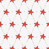 Boże Narodzenie wzór jednoczyć gwiazdy z doble krawatami Fotografia Stock